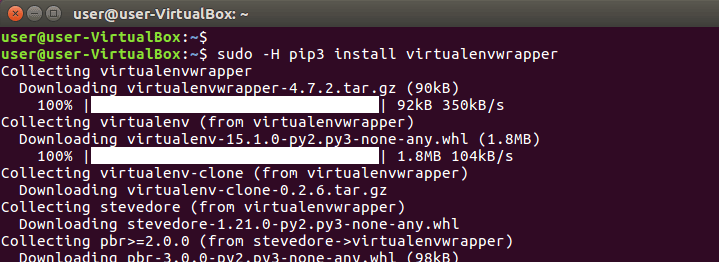 install python virtualenvwrapper package on ubuntu