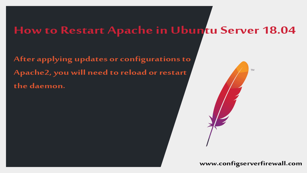 How to Restart Apache in Ubuntu Server 18.04