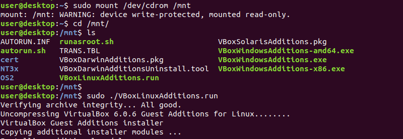 Mount the Guest Additions CD Image and Run the VBoxLinuxAdditions.run file