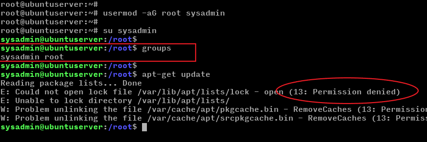 ubuntu add user to root group