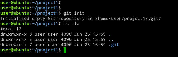Creating a new git repository on Ubuntu