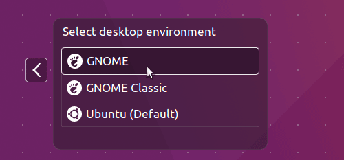 Ubuntu Gnome Desktop Login Screen