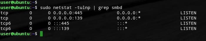 ubuntu samba port