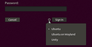 Ubuntu 18 desktop selection