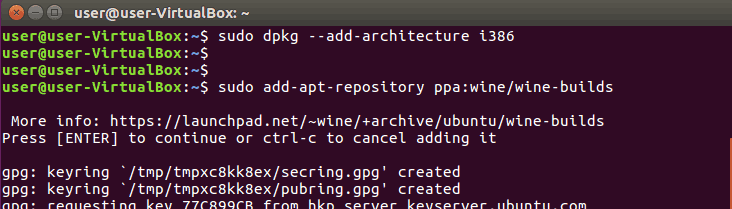Add Ubuntu Wine ppa Repository