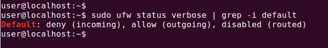 ubuntu firewall status default policy