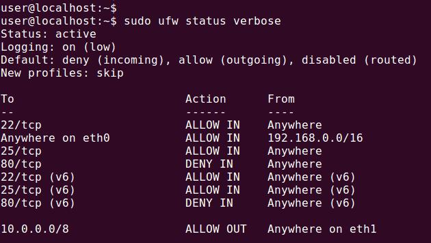 How to Check Firewall Status in Ubuntu Firewall