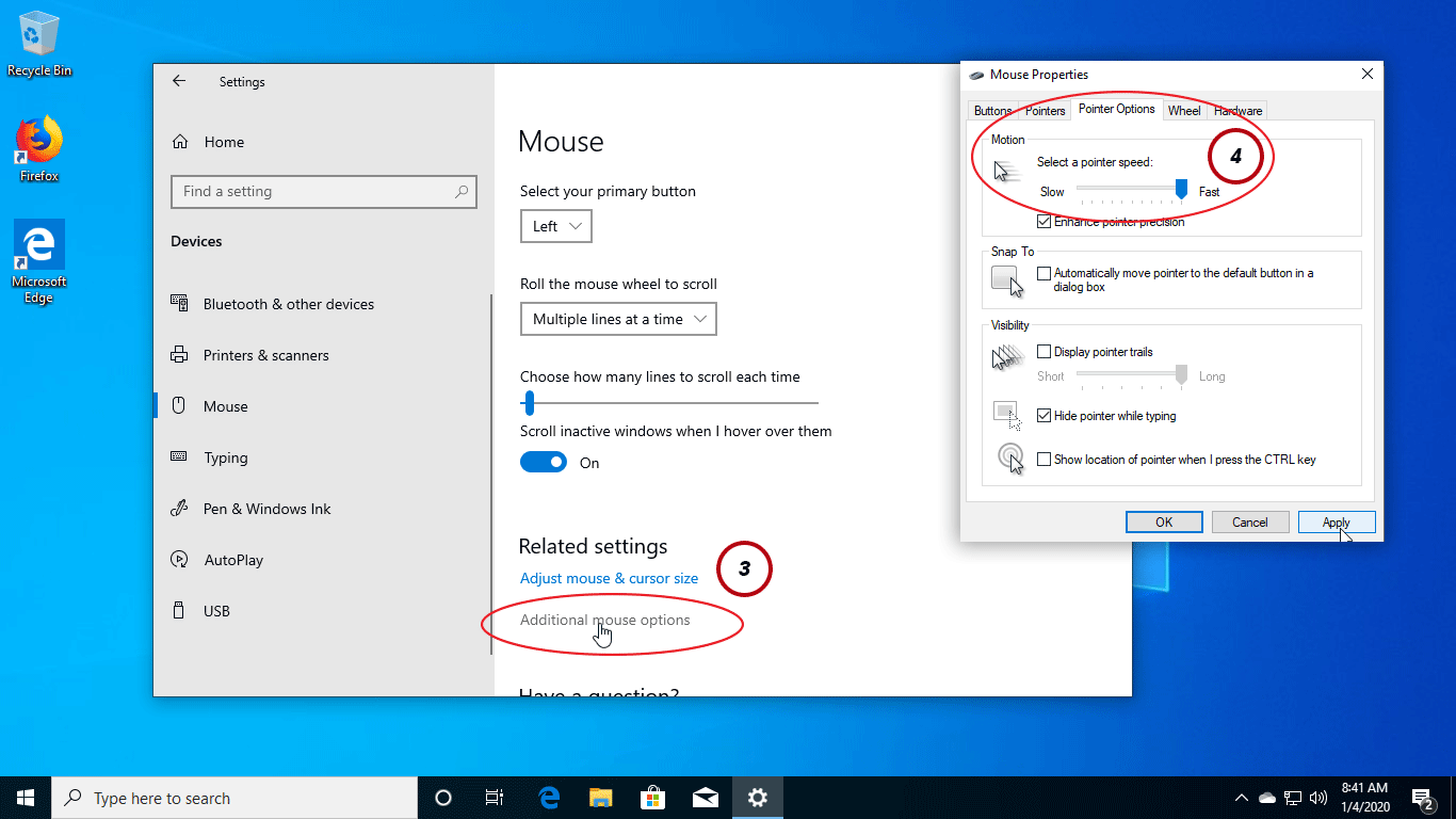 increase mouse speed windows 10