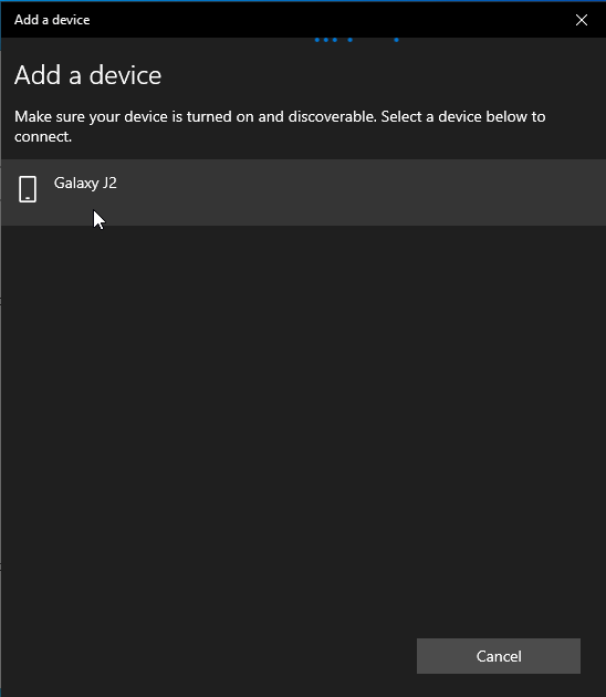 Adding Bluetooth Devices Windows 10