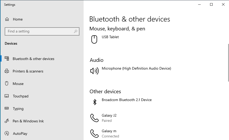 Turn On Bluetooth Windows 10
