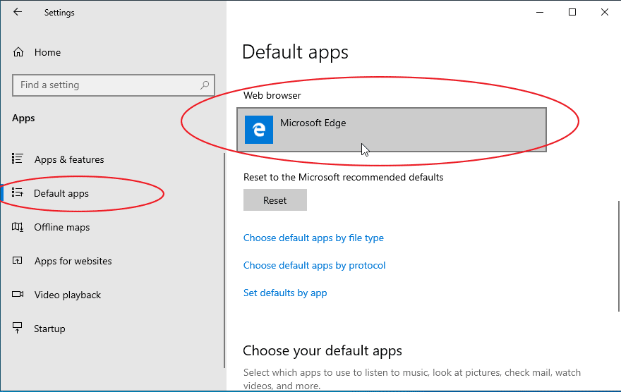 set chrome as default browser windows 10
