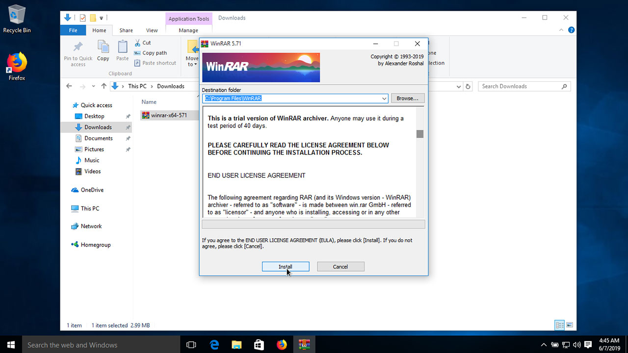 Download WinRAR for windows 10 (Open rar files on windows 10)
