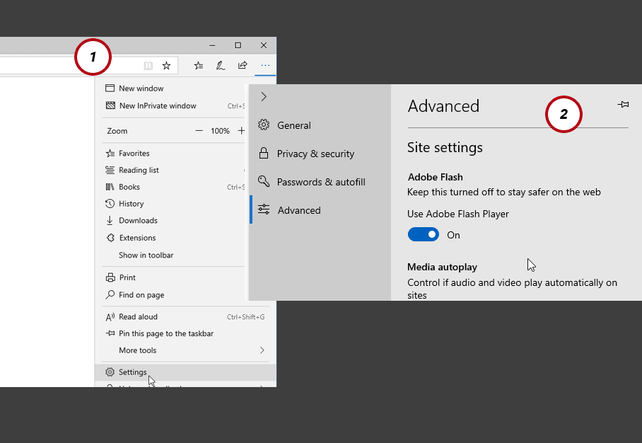 Enable Flash Player for Microsoft Edge