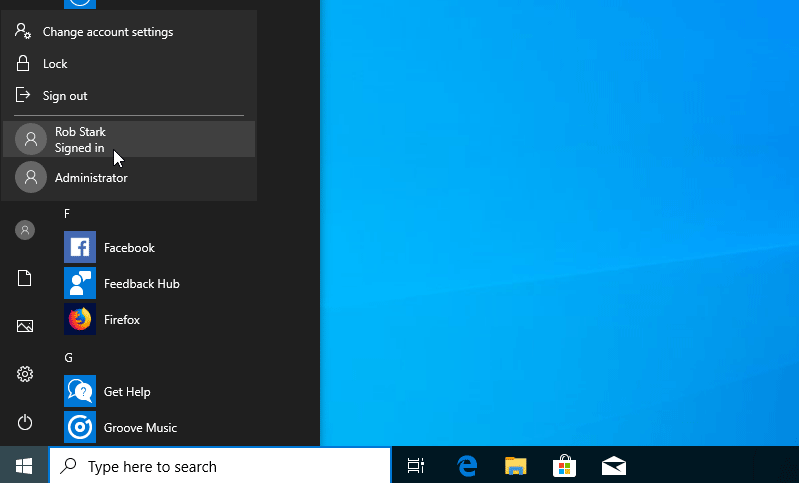 How to Switch Between User Accounts in Windows 10
