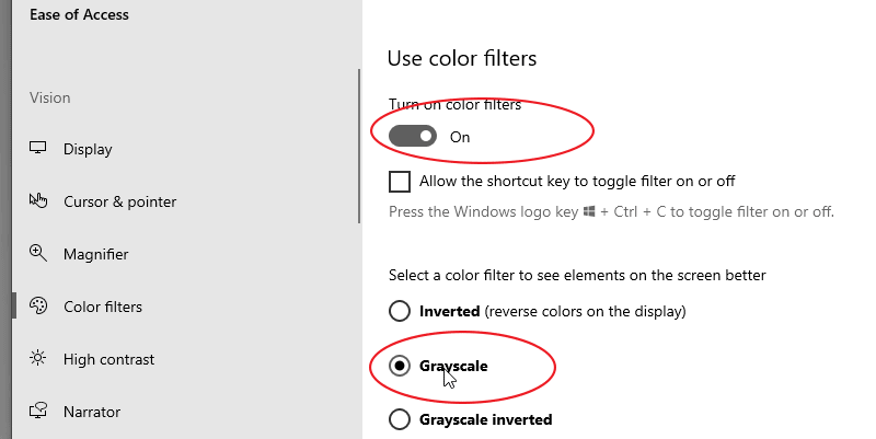 How to Enable Windows 10 Black and White Mode
