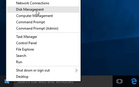 Open Windows 10 Disk Management Tool
