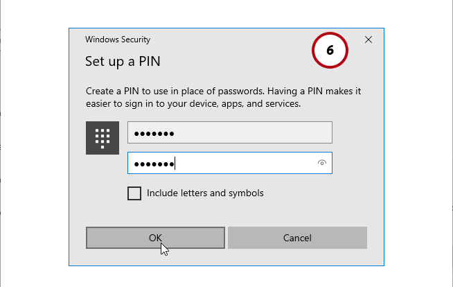 Windows 10 hello pin