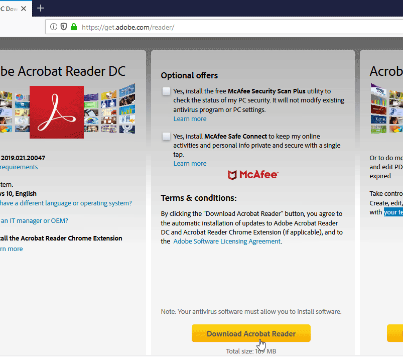How to Install Adobe Acrobat Reader Without McAfee Antivirus