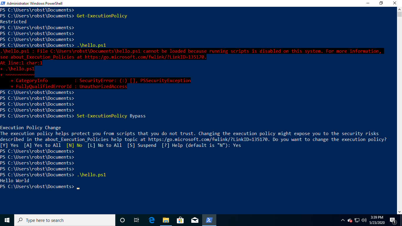 How to Set PowerShell Execution Policy in Windows 10