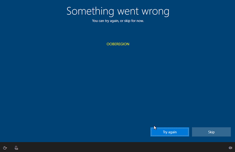 Something went wrong OOBEKEYBOARD OOBEREGION in Windows 10 (And How to Fix Them)