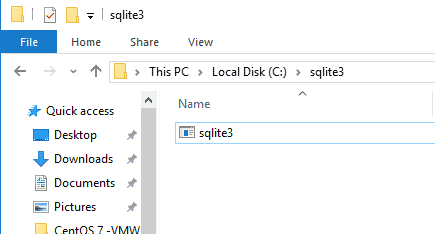 Install Sqlite3 on Windows 10