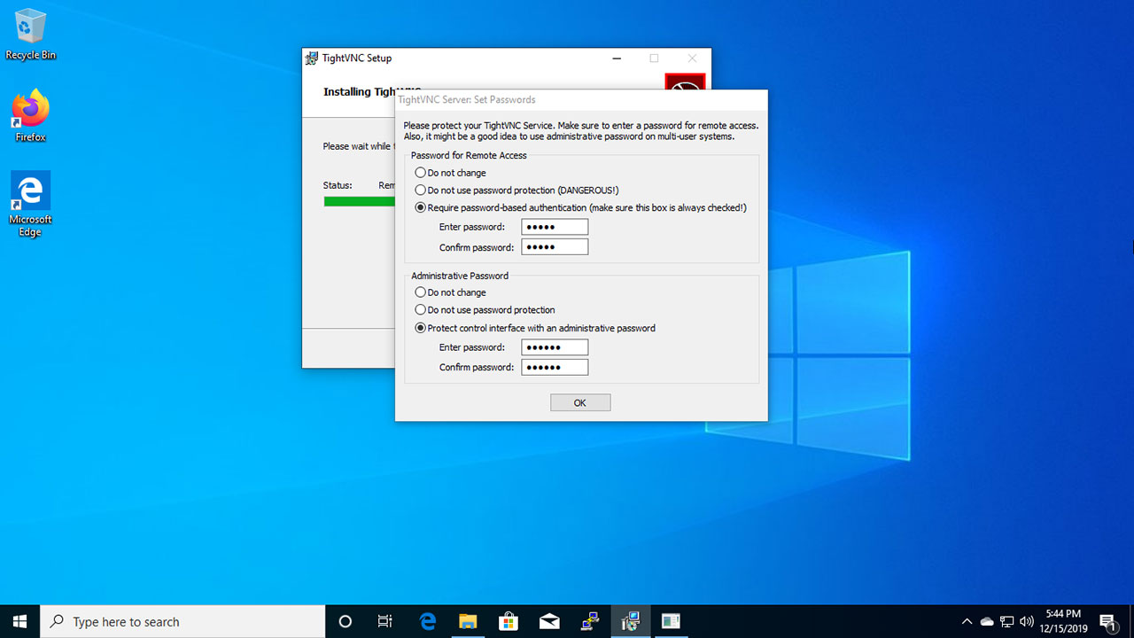 Install VNC Server (Virtual Network Computing) on Windows 10