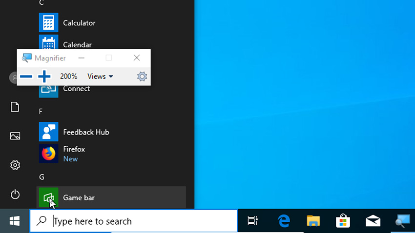 Windows 10 Entire screen will be zoomed in