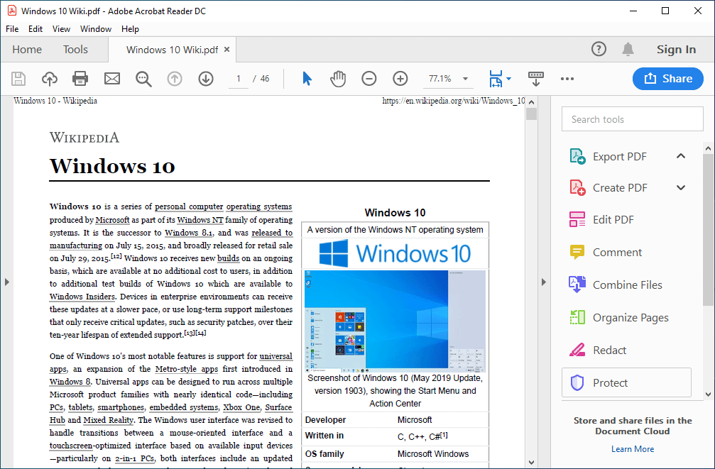 microsoft print to pdf windows 10