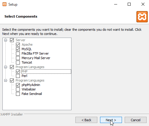 Install XAMPP Server on Windows
