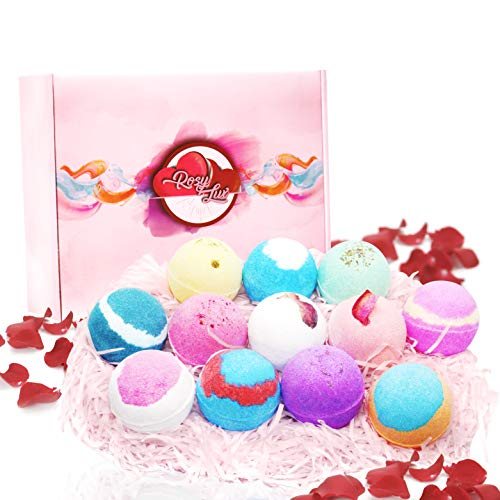 Rosy Lux Bath Bombs 香氛泡澡球 12 Scents with Dried Rose Petals
