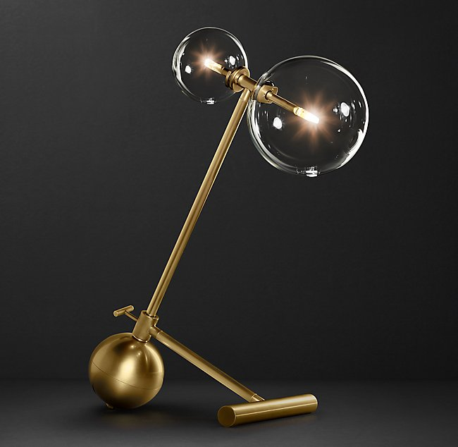 RH 設計家飾 GLASS GLOBE MOBILE BOOM TABLE LAMP 玻璃造型桌燈