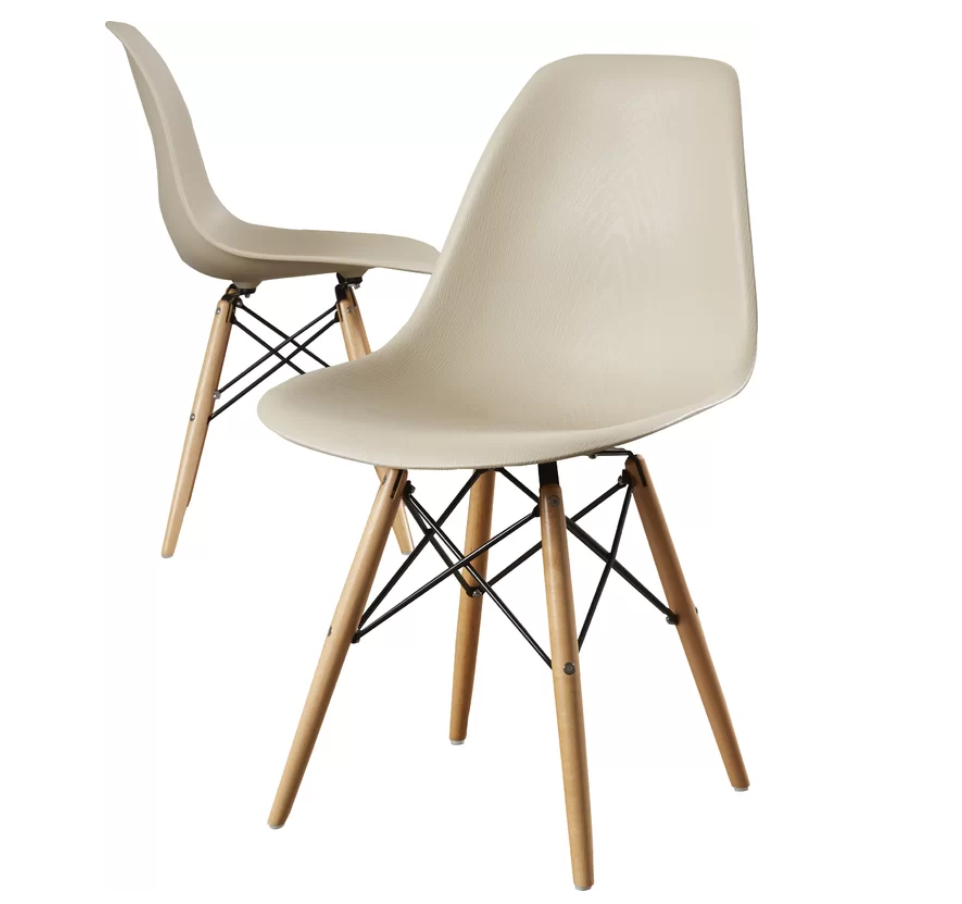 ALLMODERN Lemoyne Side Chair 木紋邊椅2張組合