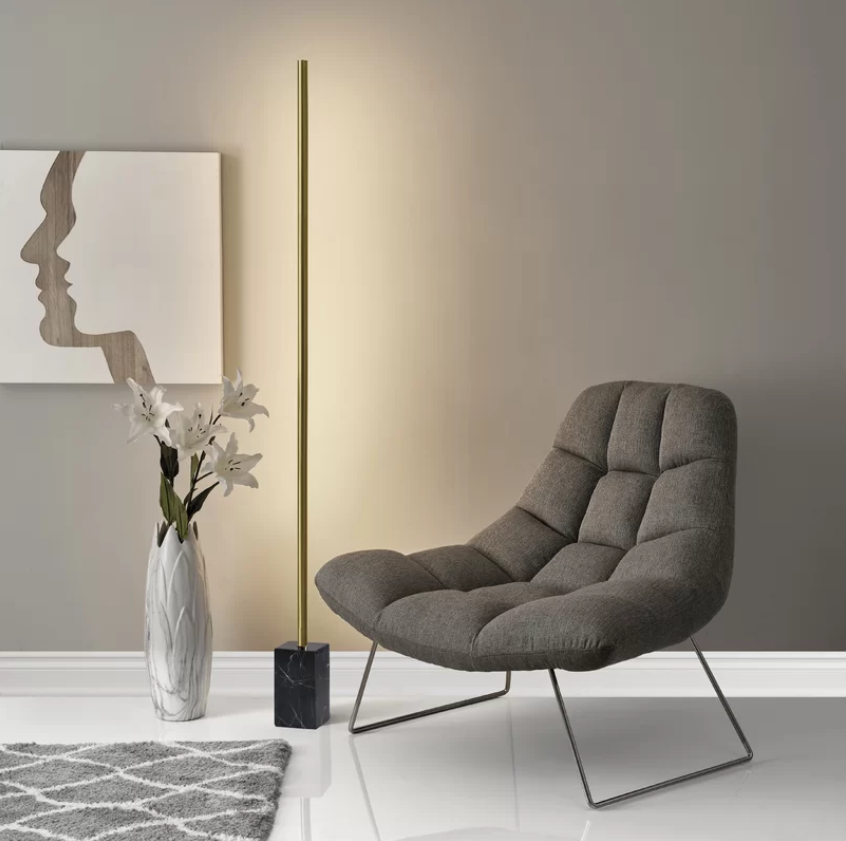 "ALLMODERN 摩登家具 Frey 65"" LED Floor Lamp 大理石 落第燈"