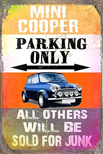 Mini Cooper Parking Only Metal Sign