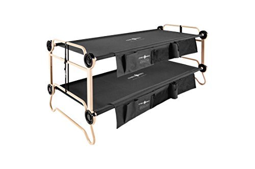 Disc-O-Bed XL, Black with Organizers 折疊床