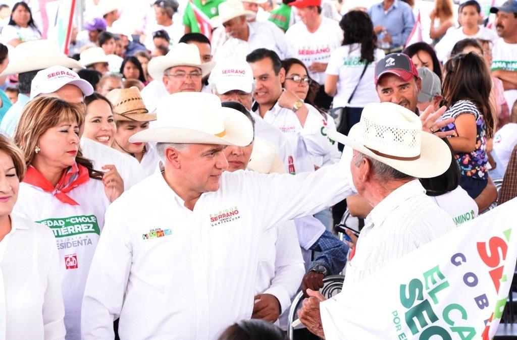 Ir arriba en encuestas me compromete más con Chihuahua: Serrano