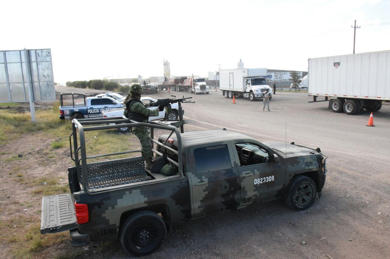 Montan operativos de seguridad en la salida Juárez y Delicias