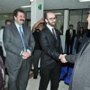 Torres Cano y Torres Vázquez con el Jefe Delegacional de Cuauhtémoc, Ricardo Monreal. Foto: Omar Flores