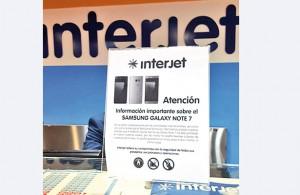 La aerolínea notificó a sus clientes que, atendiendo a las recomendaciones, el Samsung Galaxy Note 7 ha sido prohibido en todos los vuelos.