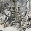 FAMILIA DE campesinos holandeses, fines de 1640, Adriaen van Ostade.