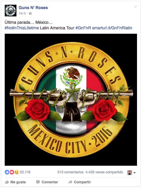 Foto: Guns N' Roses / Facebook