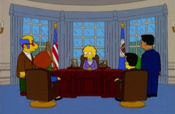 Los Simpsons predijeron la victoria de Donald Trump hace 16 años