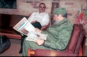 Don Mario Vázquez Raña y Fidel Castro