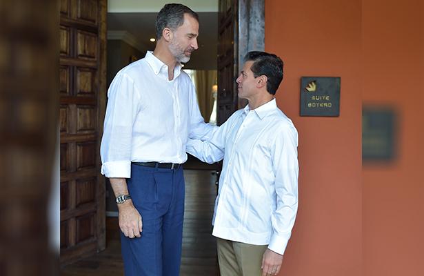 Se reúne Peña Nieto con Felipe VI Rey de España en Colombia