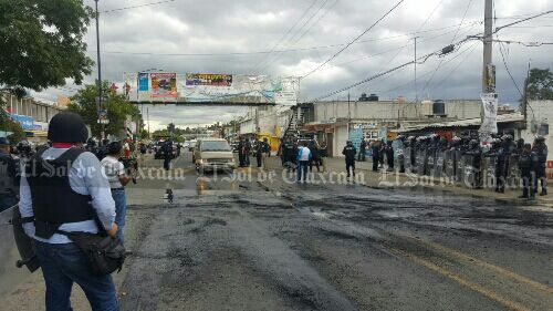 Liberan granaderos la carretera federal Puebla-Tlaxcala