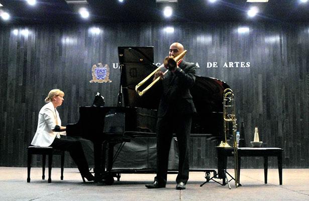 Exitoso concierto para trombón y piano