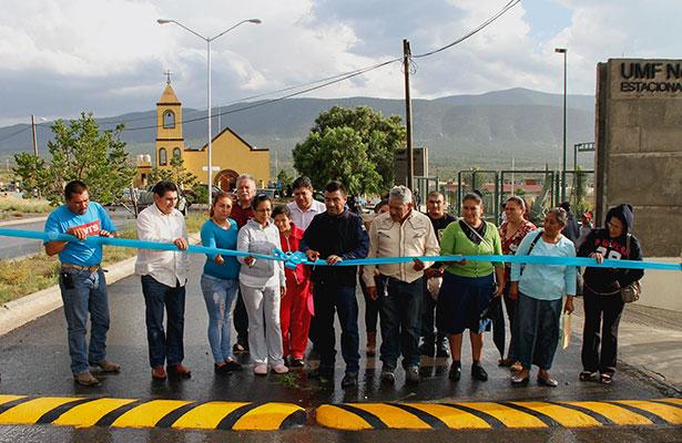 Inauguran alumbrado en comunidad de Mazapil