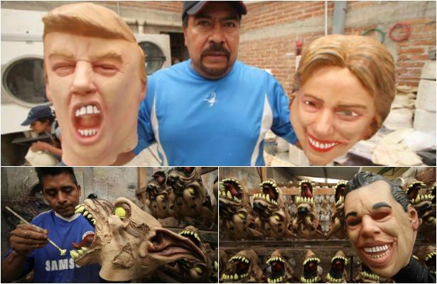 Trump, Clinton y Juanga, lo más pedido para este Halloween