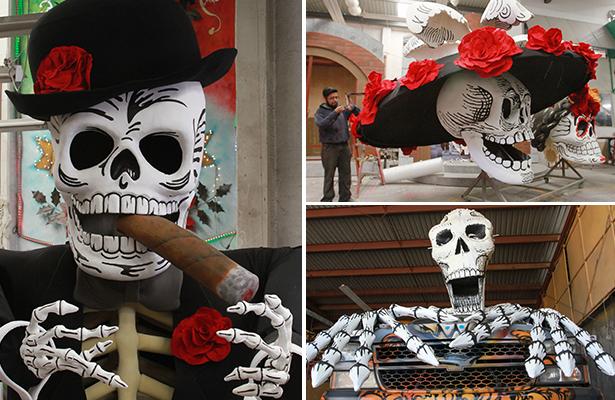 Se alistan calaveras de Spectre para carnaval de Día de Muertos