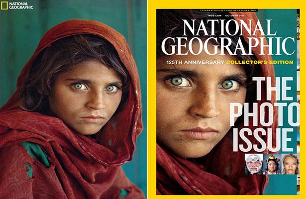 Está en la cárcel la afgana de ojos verdes de National Geographic